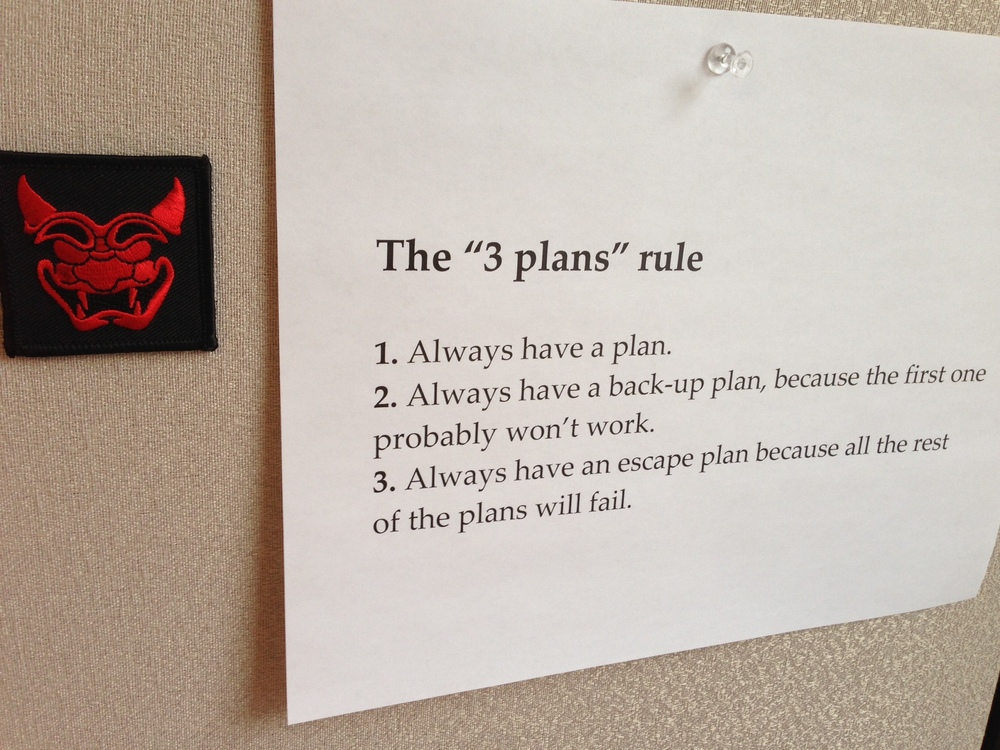 "The ""3 plans"" rule"