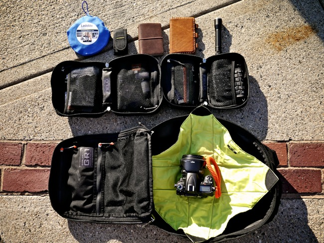 Ready. Using GORUCK Field Pockets to organize the gear.