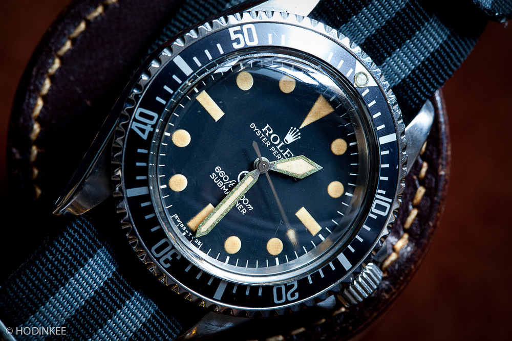 A collector's Rolex MilSub ref 5517.
