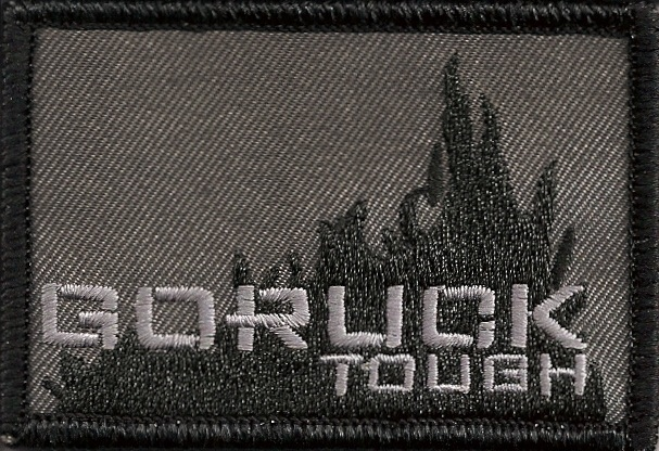The original, and now vintage, GORUCK Tough patch. Never for sale, you have to earn it.