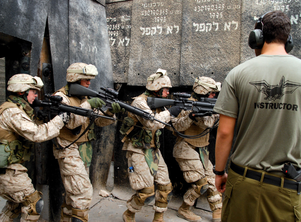 US Marines training at the CT School in Israel