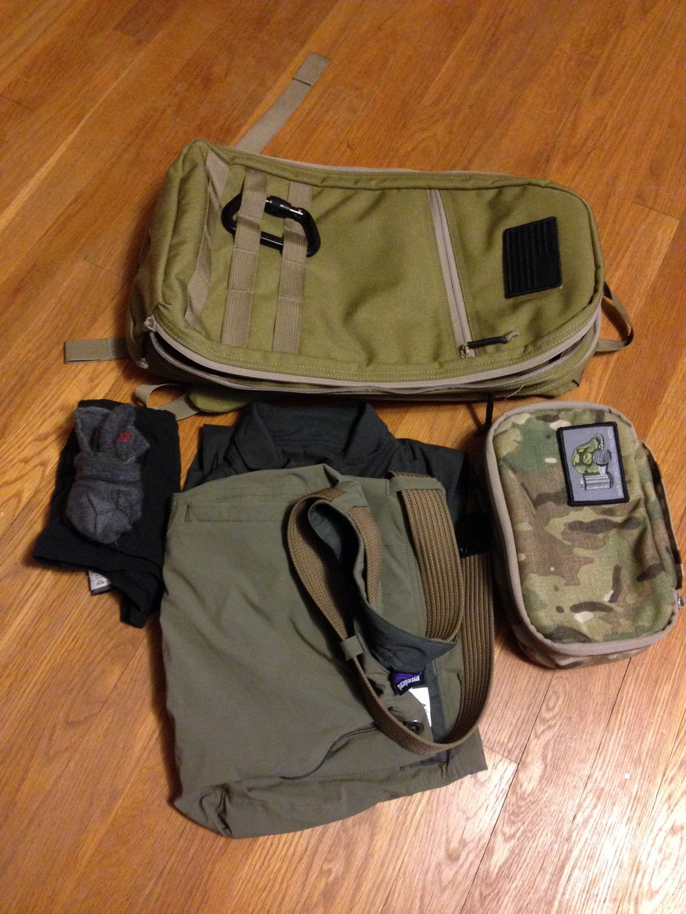 This is what I packed when I went to visit our friends from GORUCK in their HQ in Florida