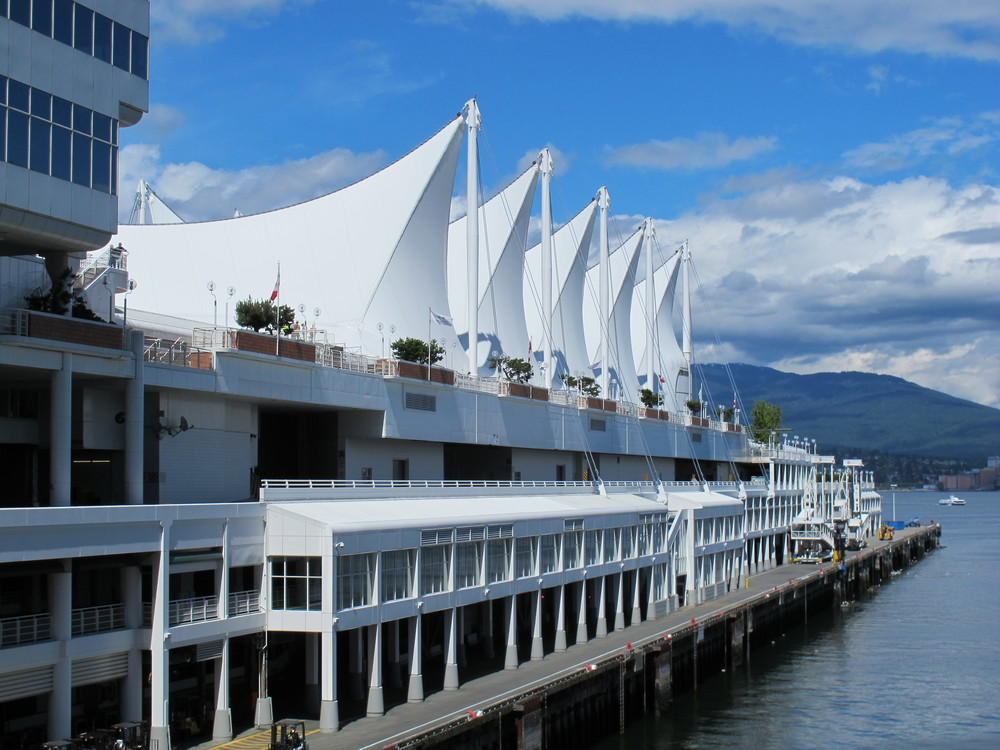 Canada Place, built for Expo '86 and now home to a convention center, shops and launch pad for cruise ships
