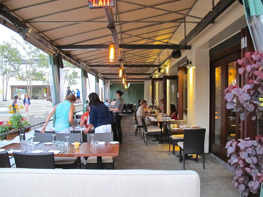 Chez Soi's covered patio