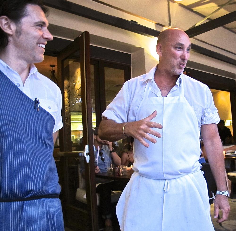 Chez Soi chef Mark Gold on right