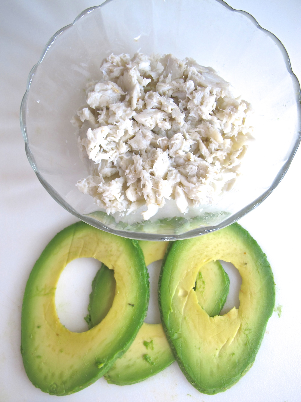 crab and avocado meat