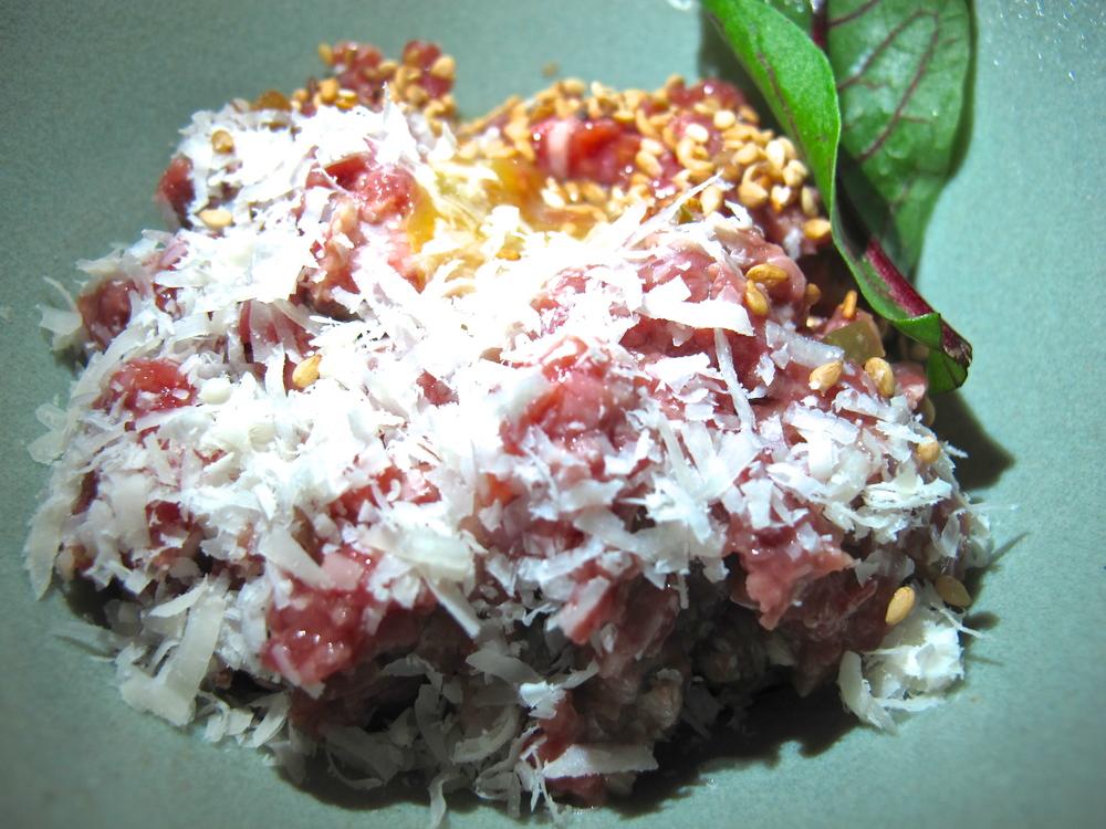 Hinoki & the Bird's steak tartare