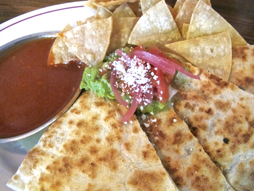 Tinga's flat iron steak and mushroom quesadilla