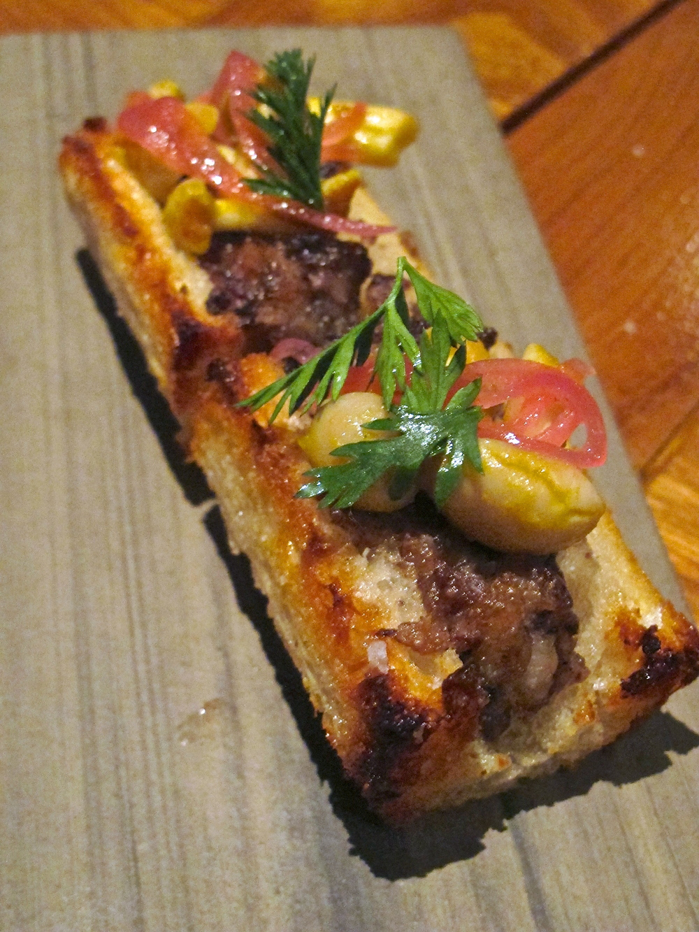 Scratch Bar's roasted bone marrow 'n sourdough