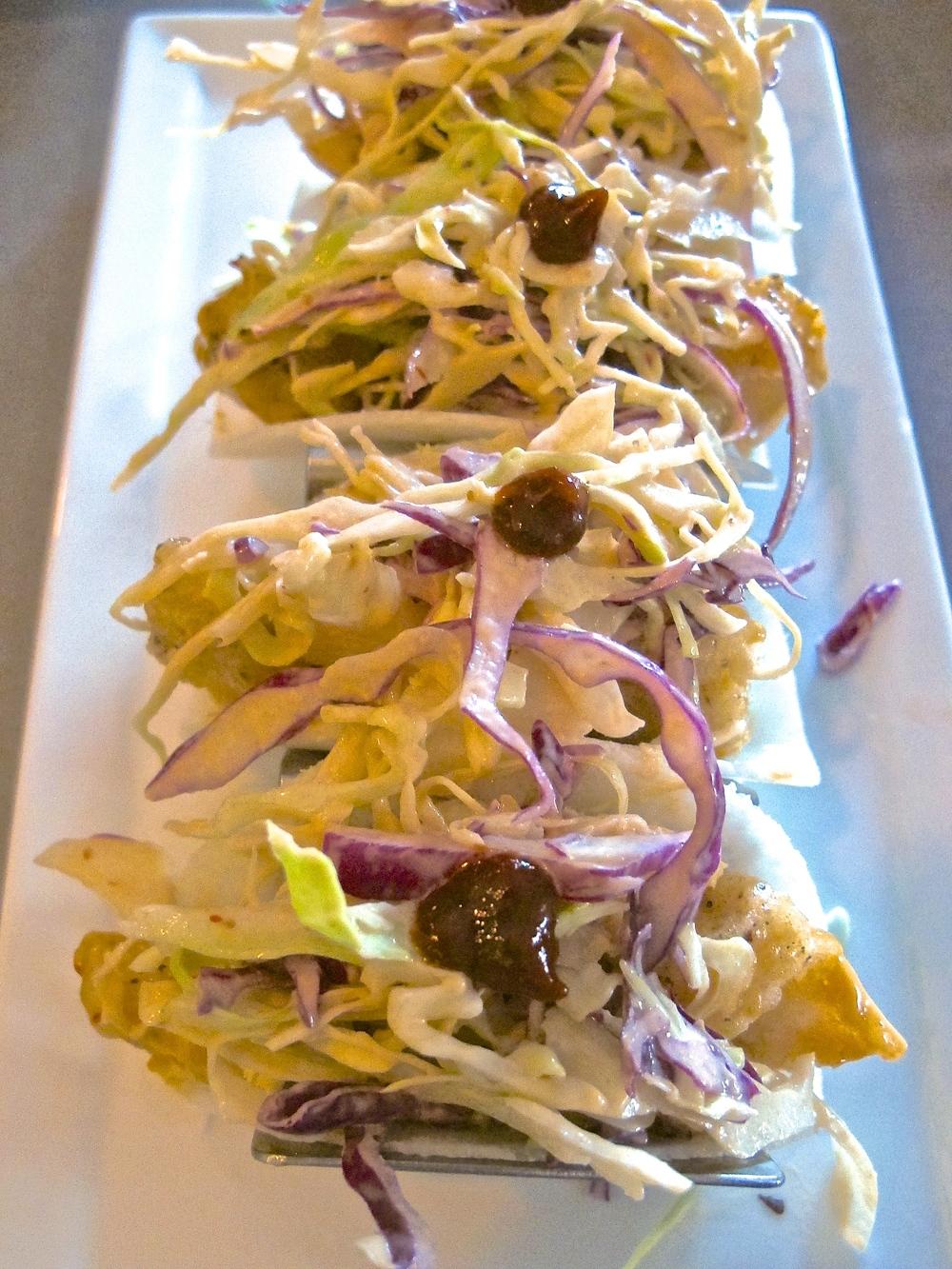 Fin jicama fish tacos