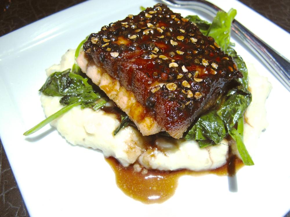 Buffalo Club seared salmon