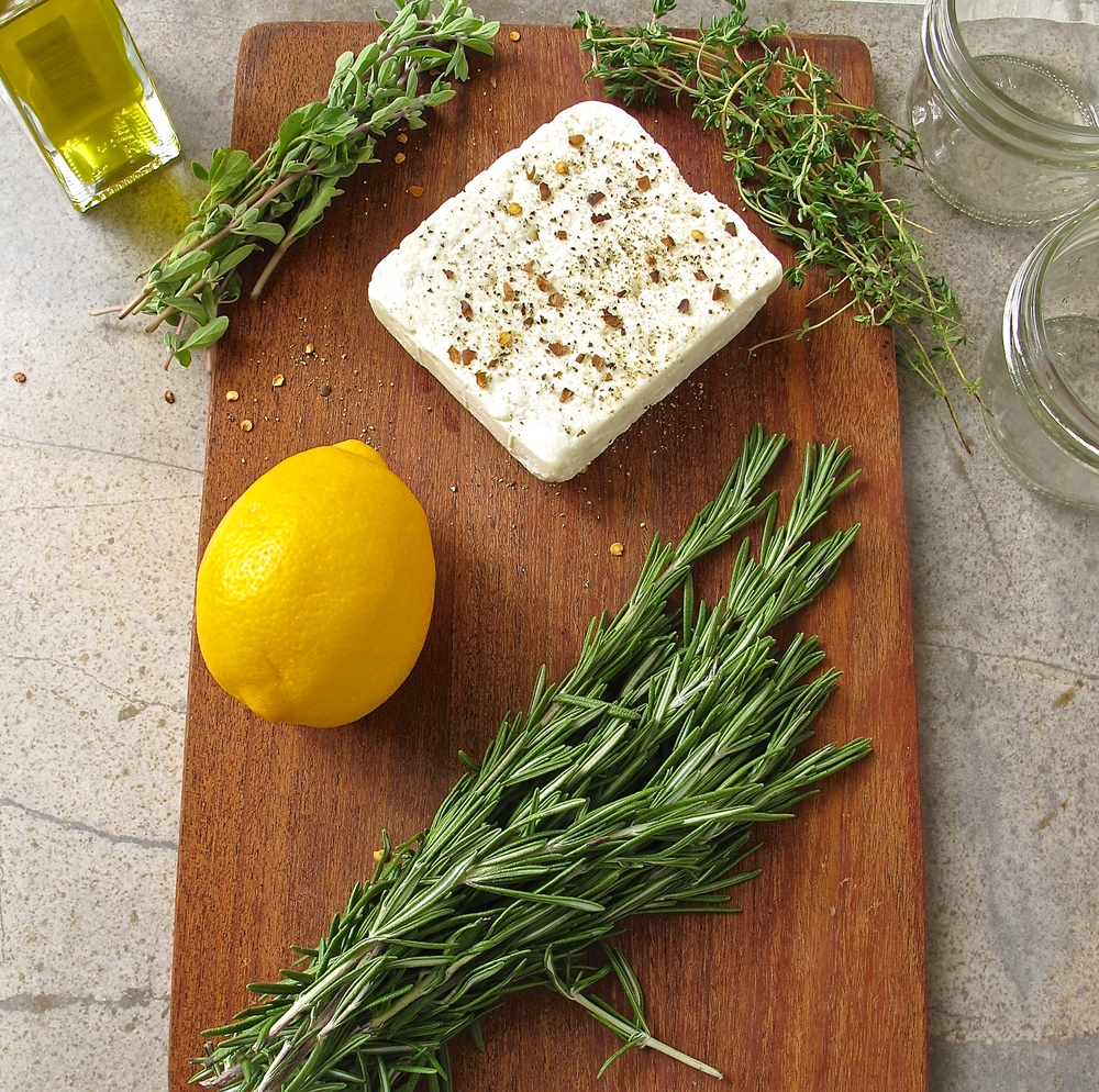 herb marinated feta cheese