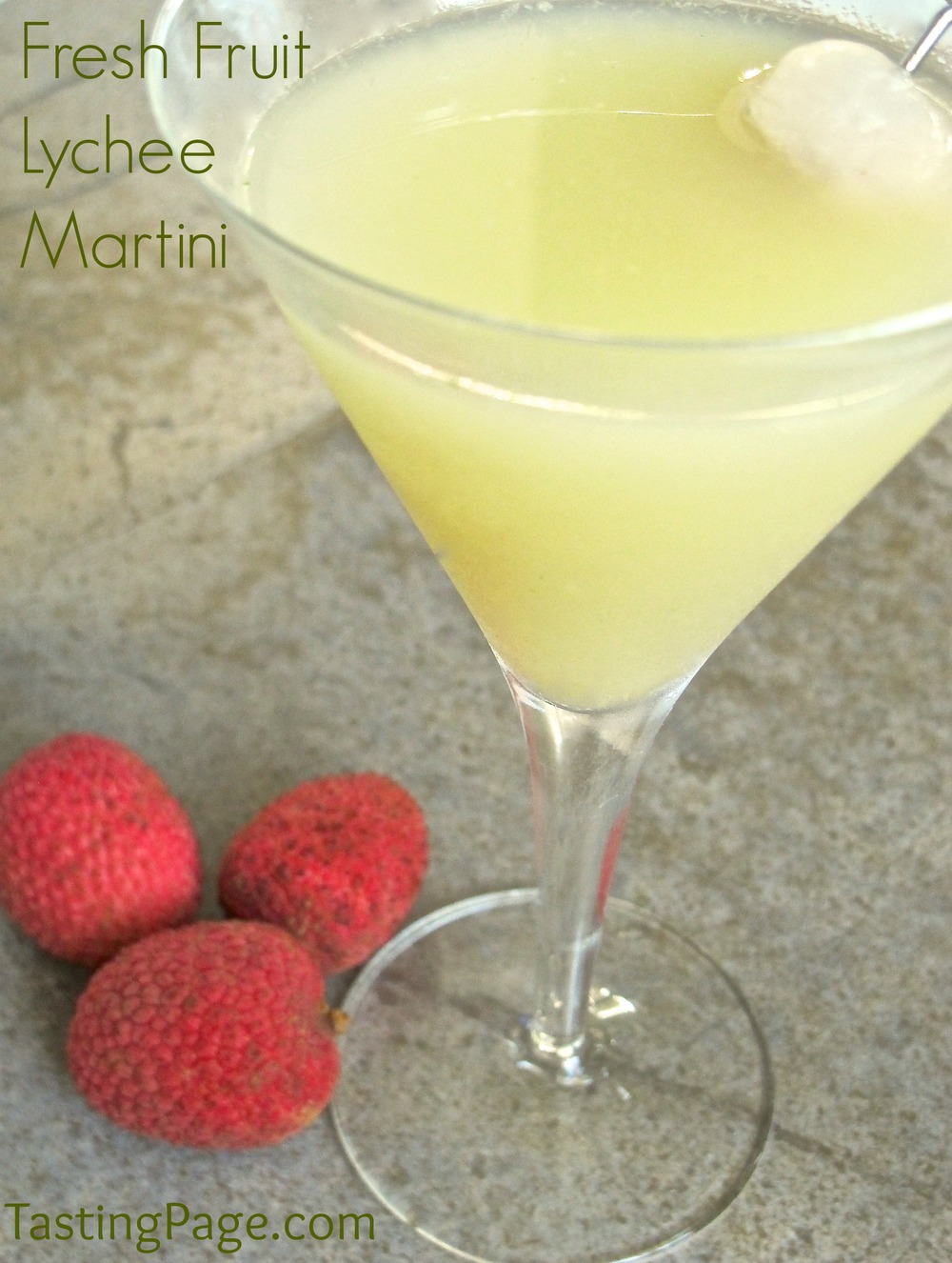 Fresh Fruit Lychee Martini — Tasting Page