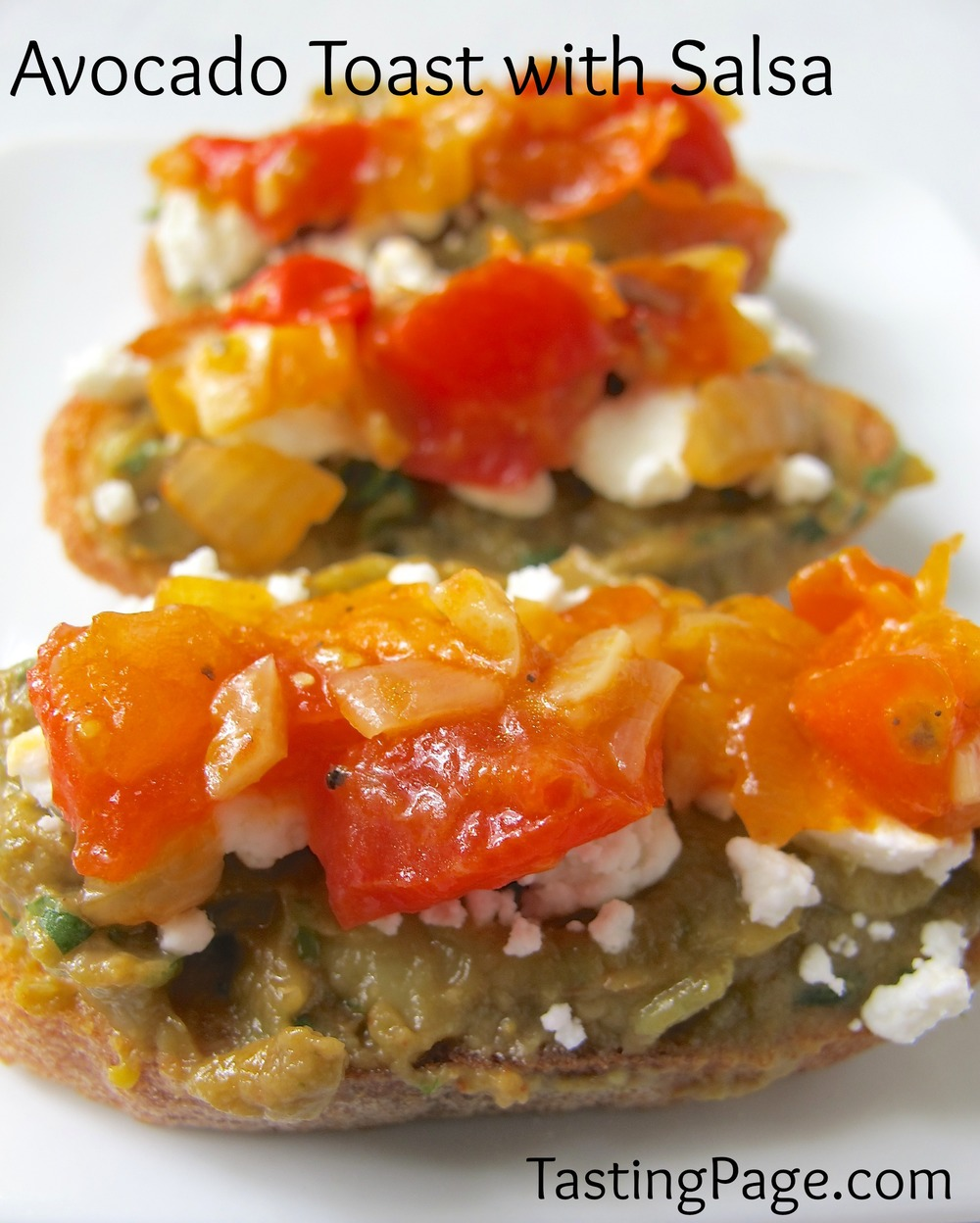 Avocado Toast with Tomato Salsa