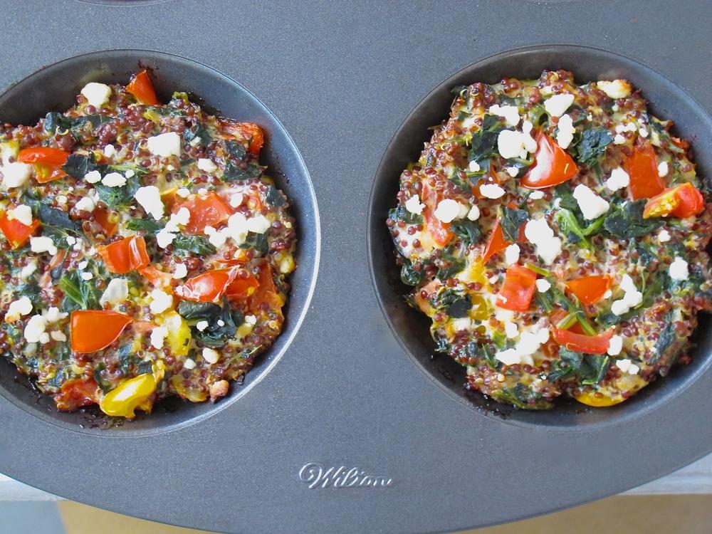 quinoa spinach cakes