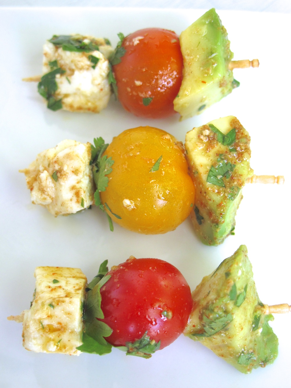 Guacamole Deconstructed & Skewered