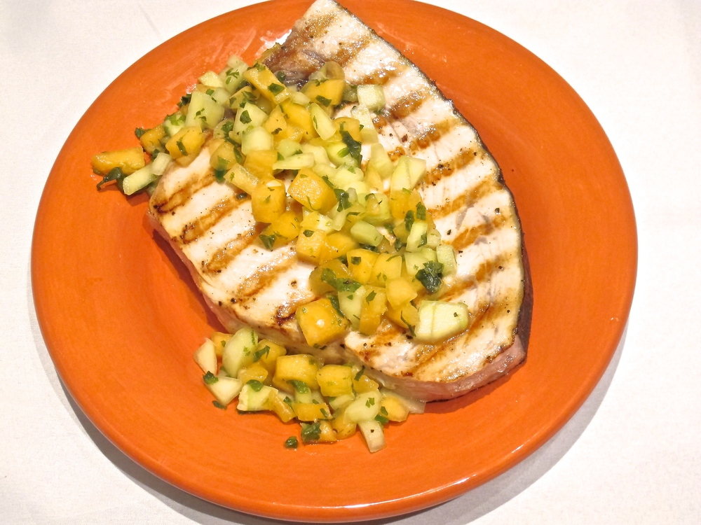 Swordfish with Cucumber Melon Salsa — Tasting Page