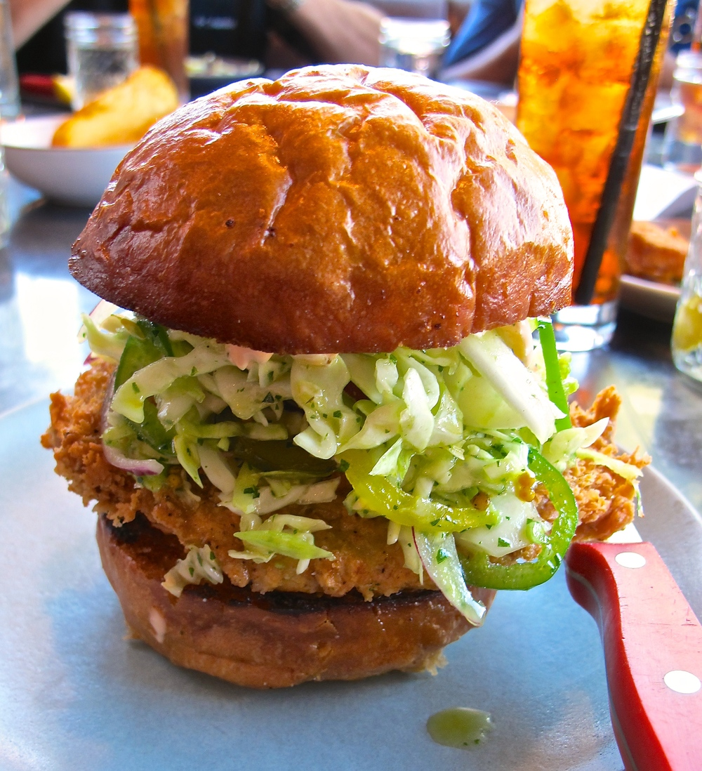 Son of a Gun fried chicken sandwich