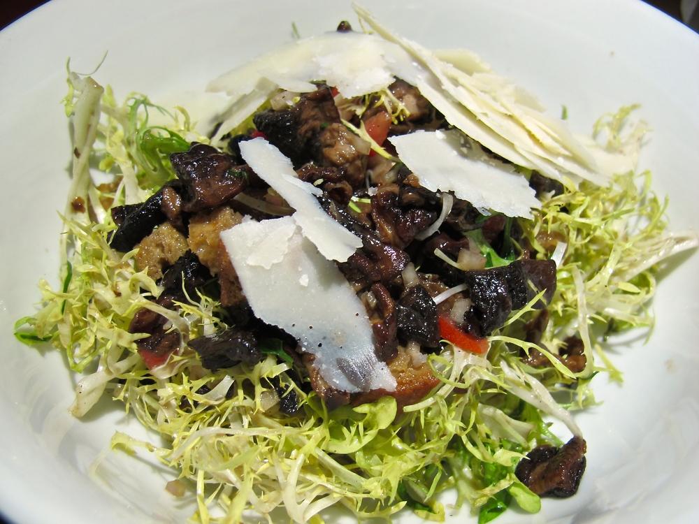 Jiraffe Restaurant mushroom salad