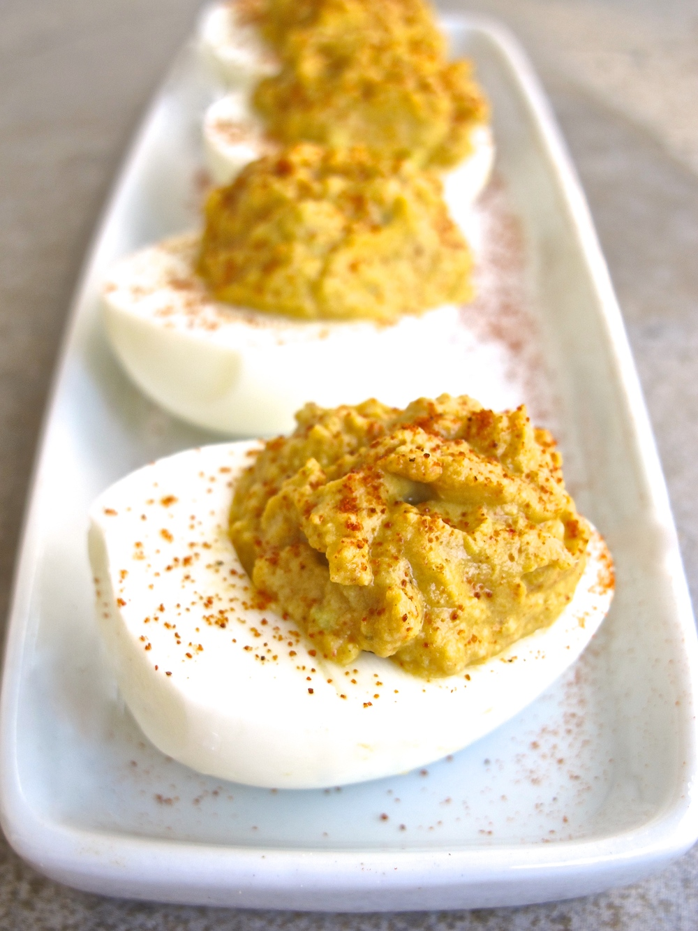 zesty avocado lime deviled eggs
