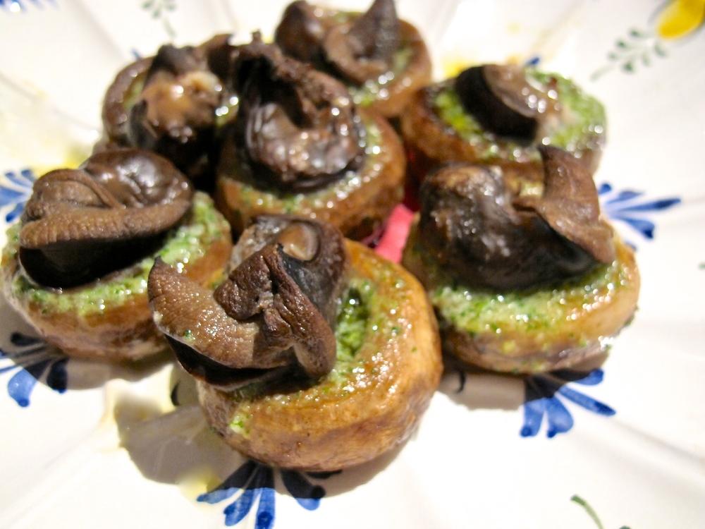 escargot stuffed mushroom