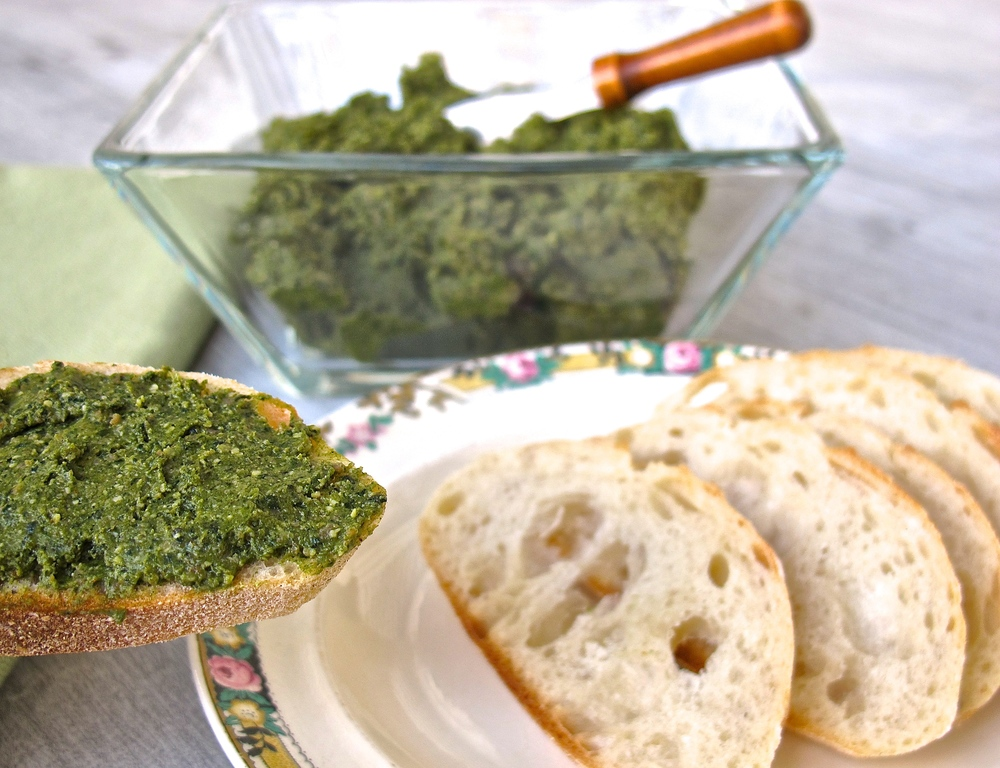 kale chorizo spread