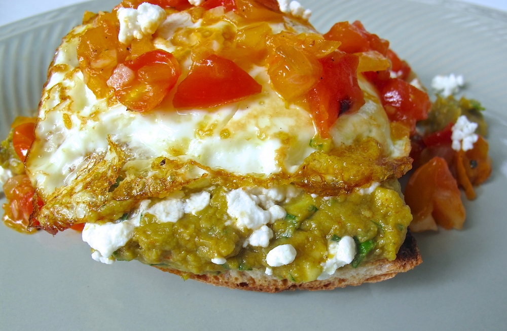 avocado toast with salsa