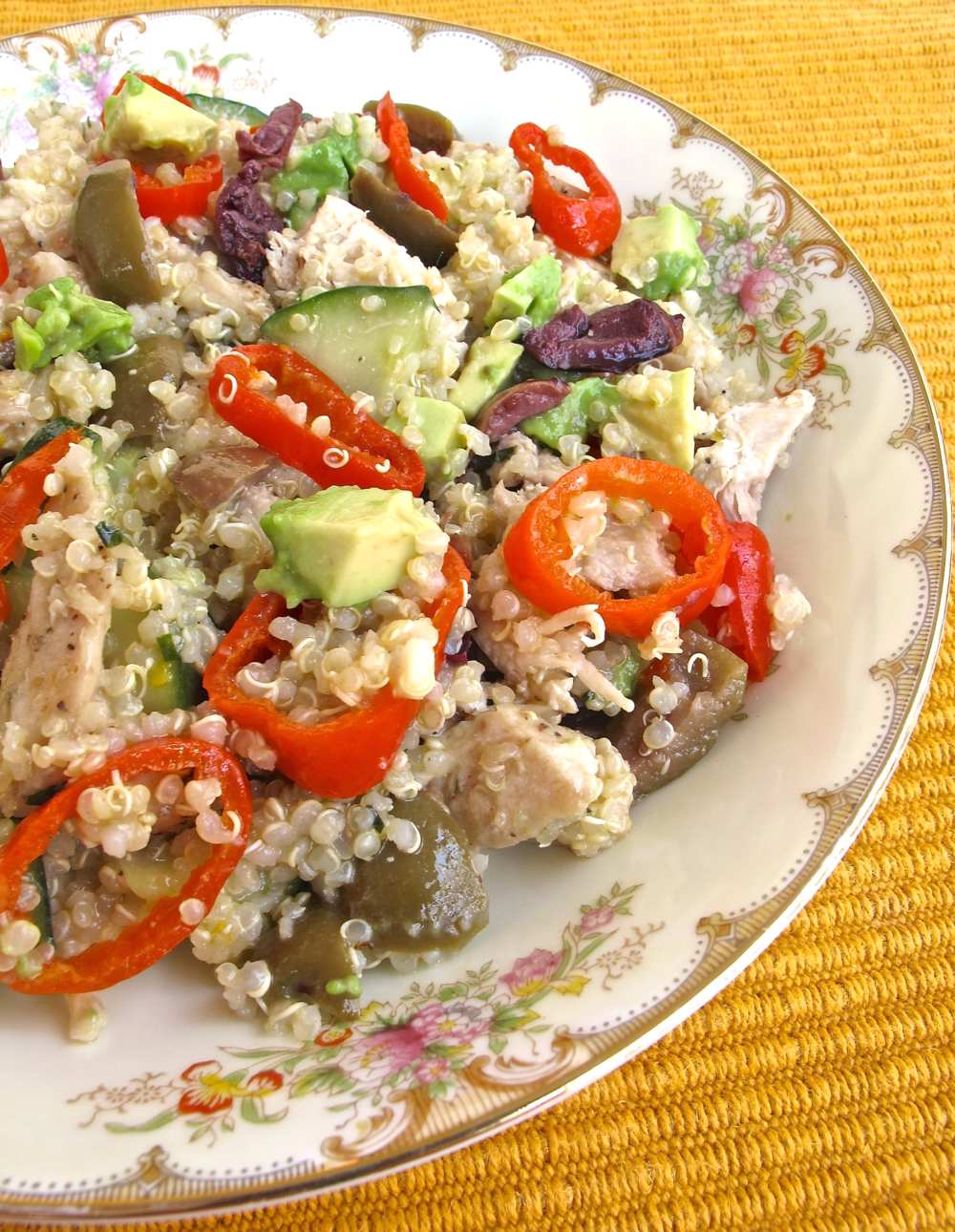 Mediterranean quinoa salad | TastingPage.com