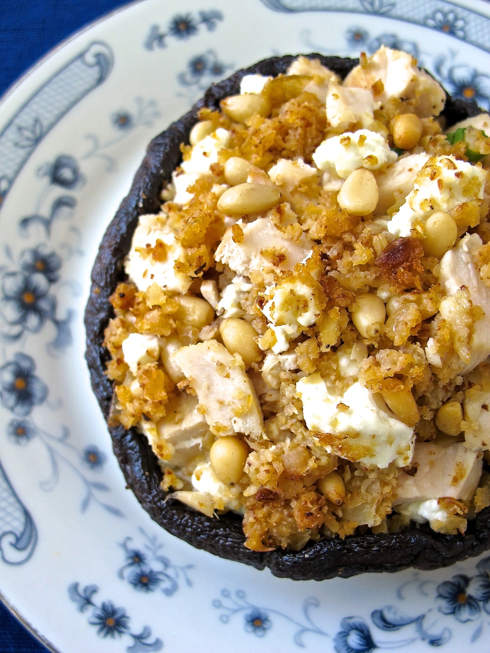 cauliflower rice stuffed portobello mushroom