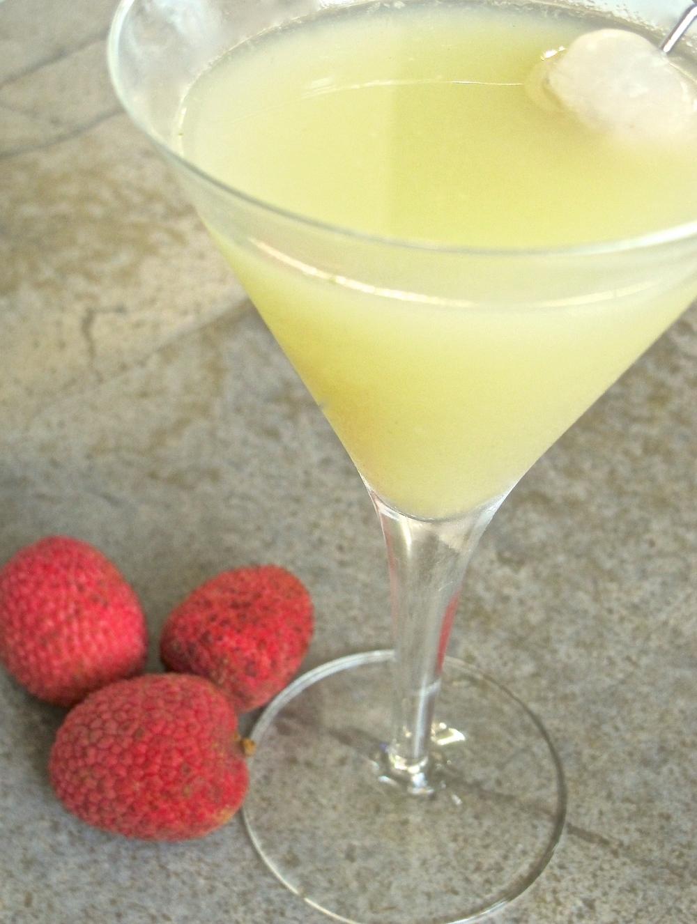 fresh fruit lychee martini