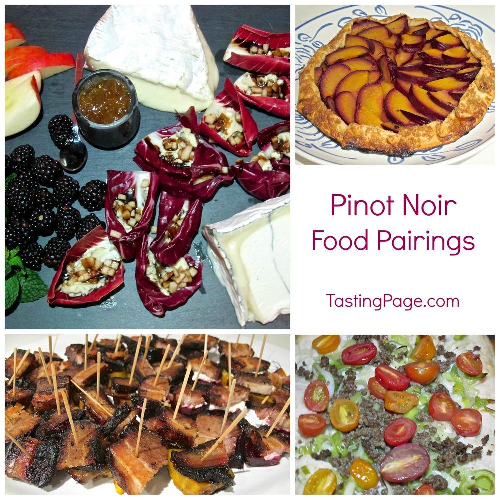Pinot Noir Food Pairings Tasting Page