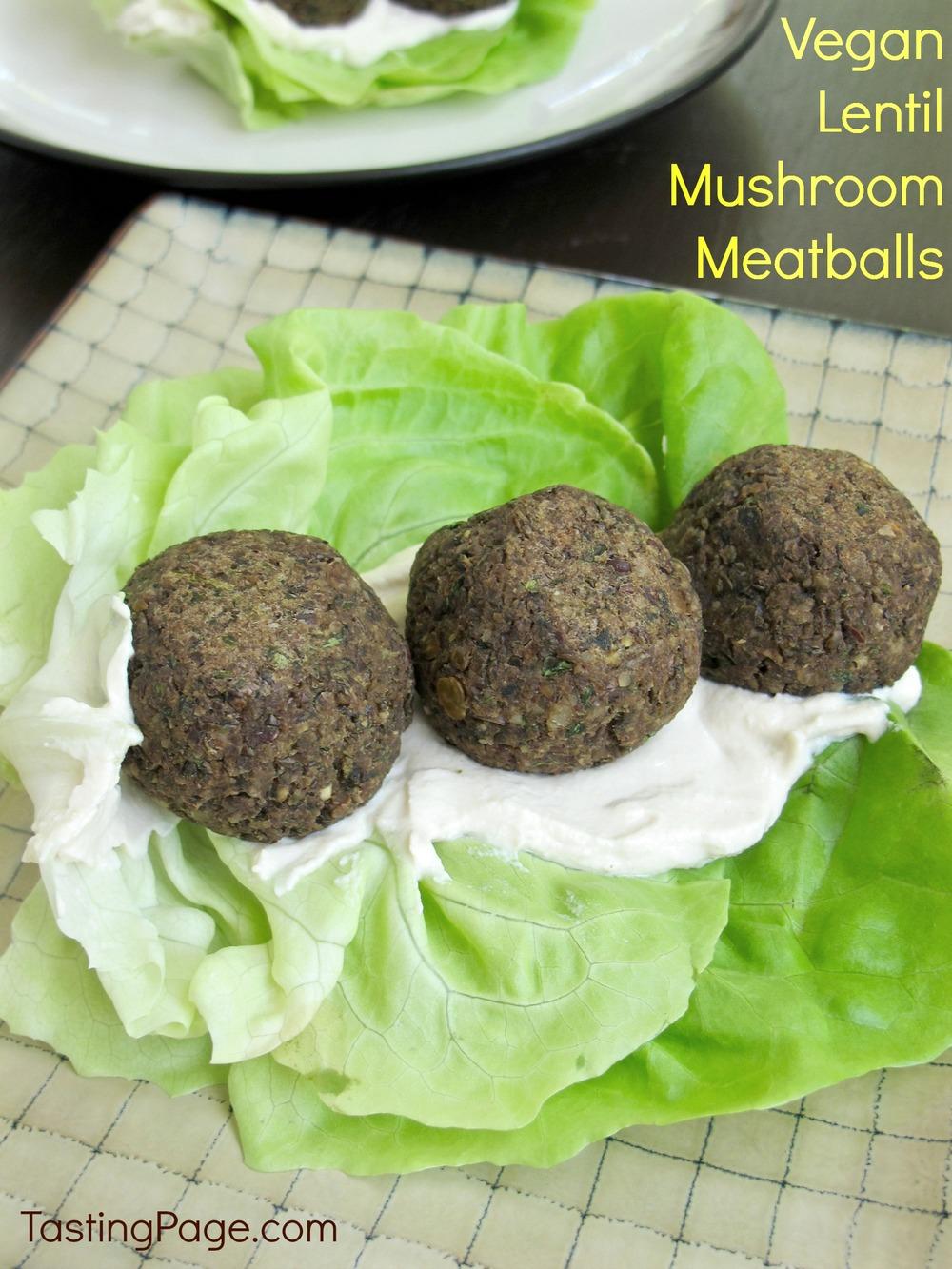 Vegan Lentil Mushroom Meatballs - a tasty meat-less meal filled with ...