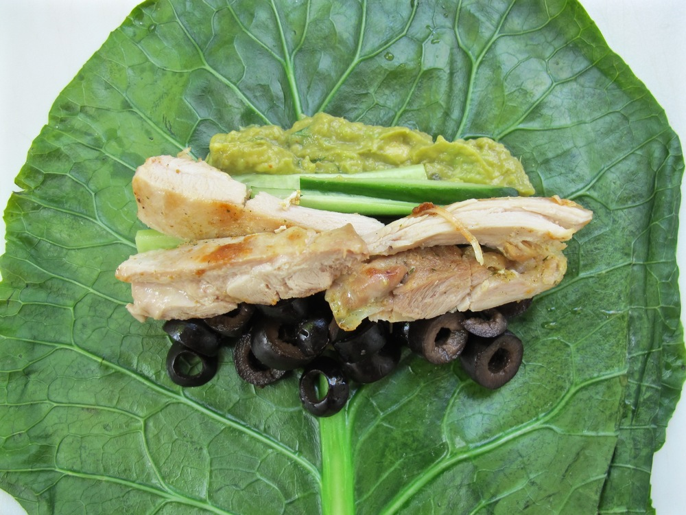 Collard Green Chicken Roll Ups