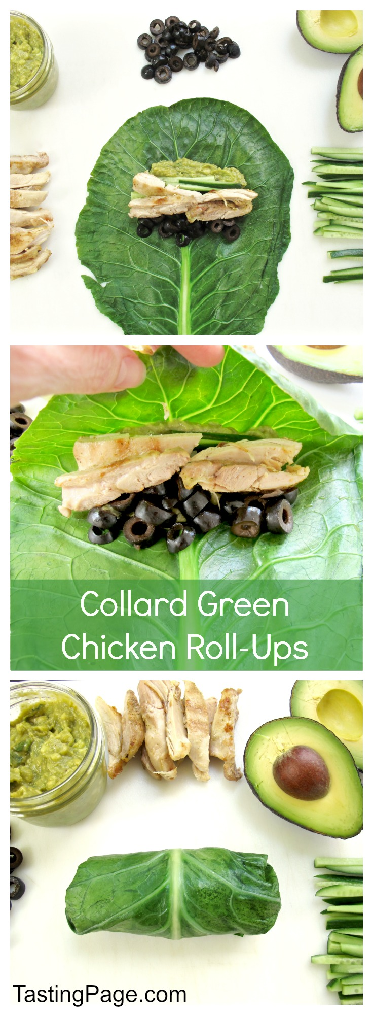 Gluten Free Collard Green Chicken Roll Ups - Tasting Page