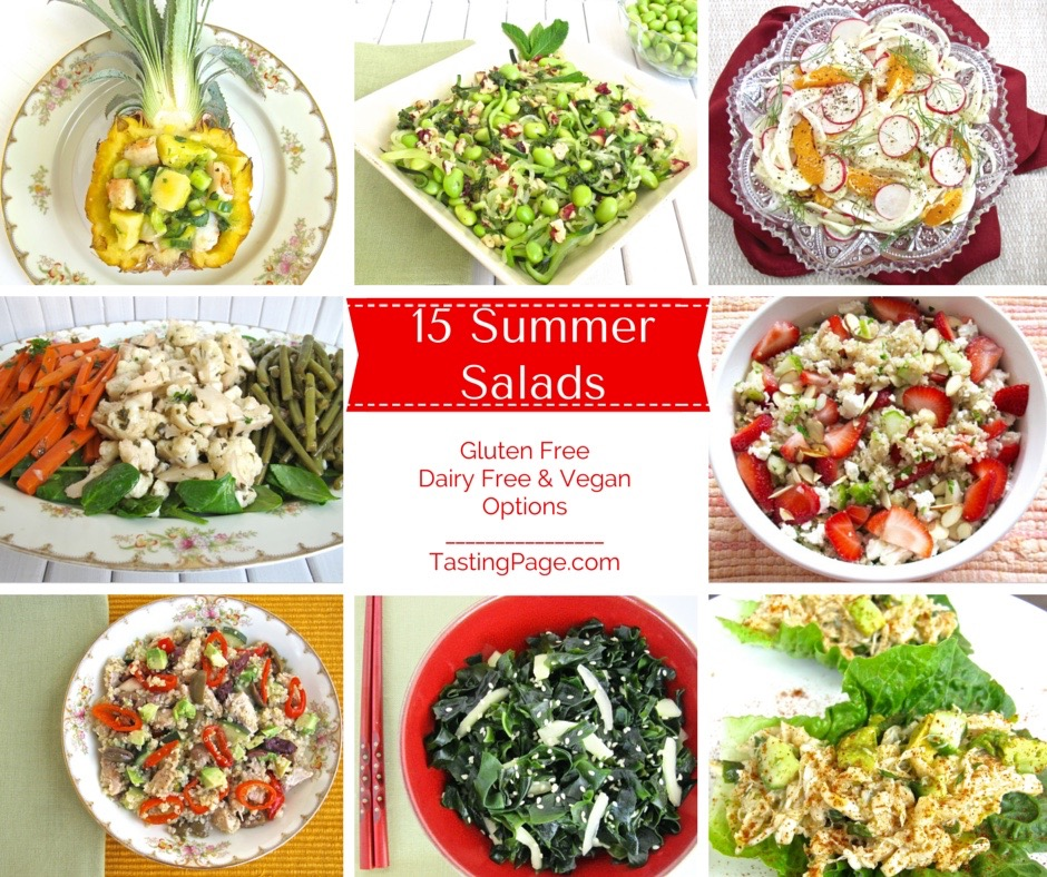 15 Summer Salads - healthy & gluten free with vegan & dairy free options