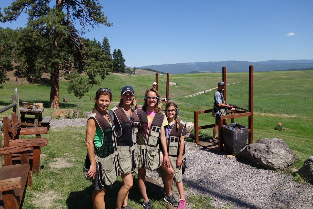 Montana Clay pigeon shooting
