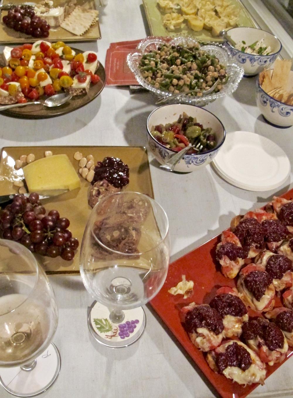 Wine Tasting appetizers