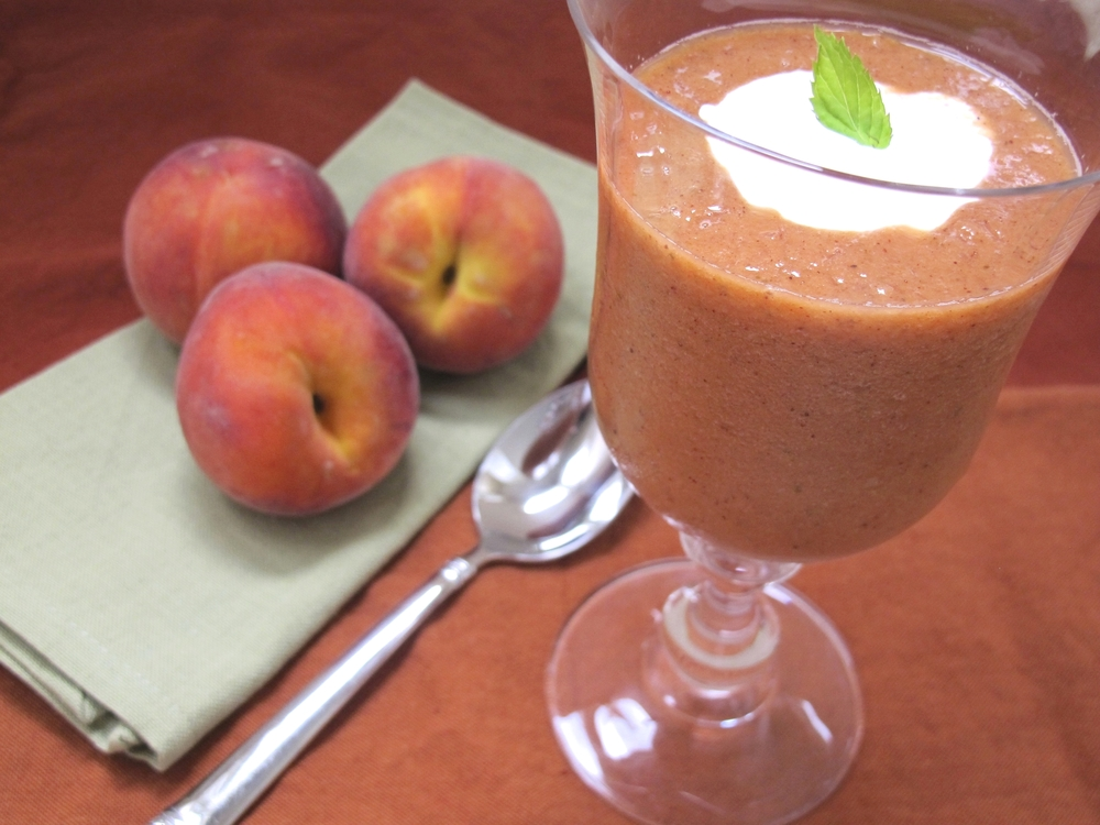 Cool peach summer soup | TastingPage.com