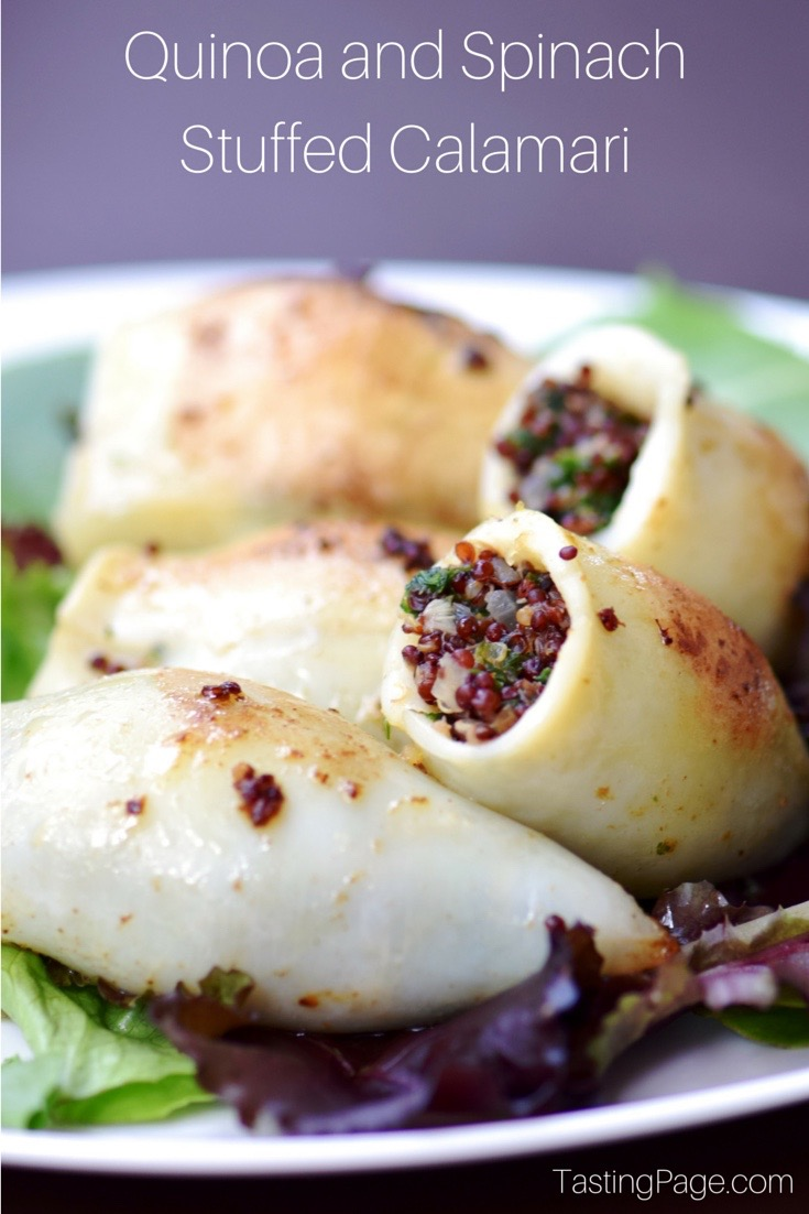 Quinoa and Spinach Stuffed Calamari | TastingPage