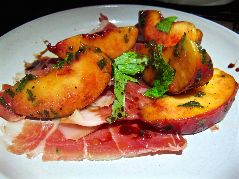 Hatchet Hall's grilled peaches