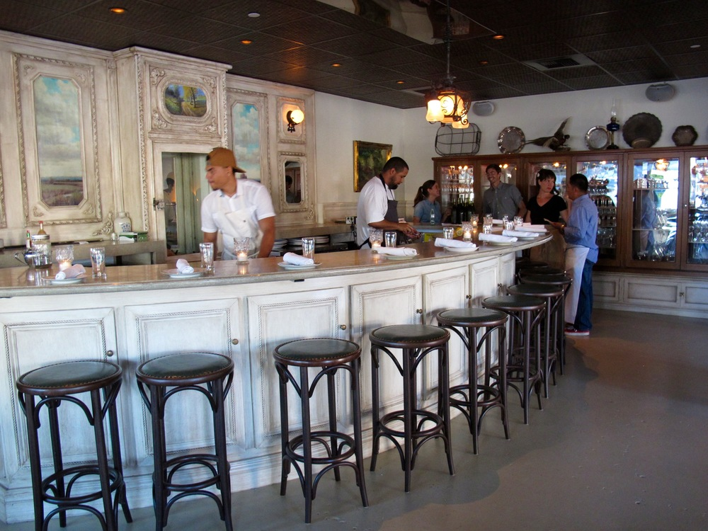 Hatchet Hall's oyster bar