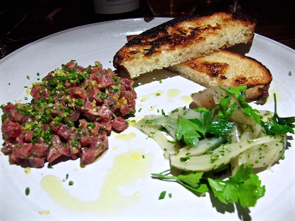 Hatchet Hall's  steak tartare
