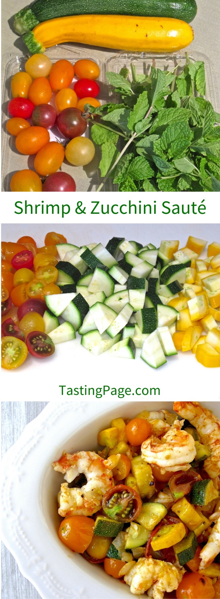 Shrimp and Zucchini Sauté | TastingPage.com