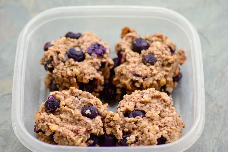 Gluten Free Dairy Free Banana Blueberry Cookies | TastingPage.com