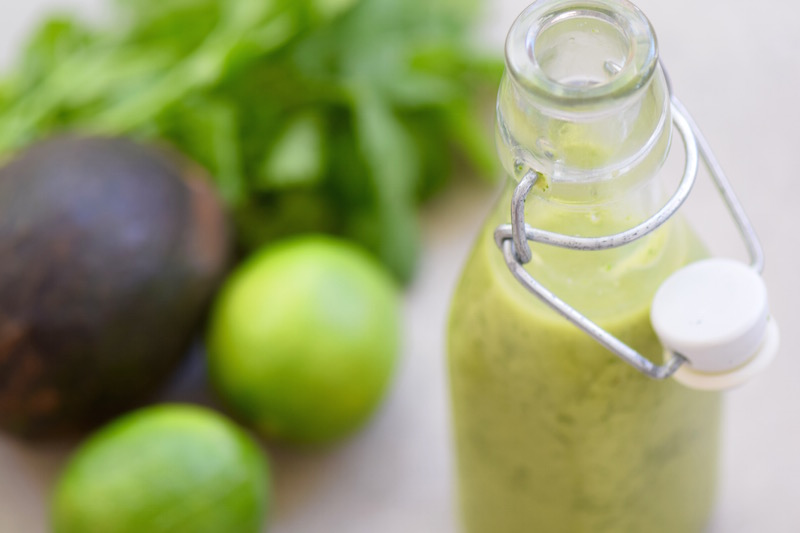 Avocado Cilantro Lime Vinaigrette | TastingPage.com
