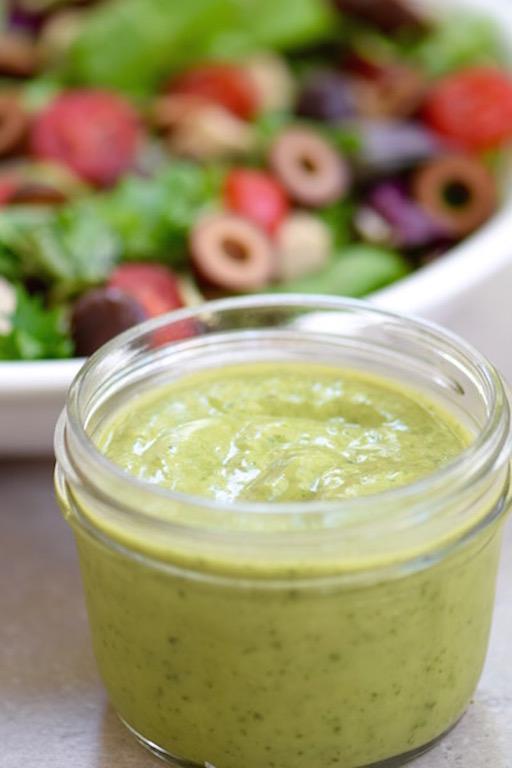 Avocado Lime Cilantro Dressing | TastingPage.com