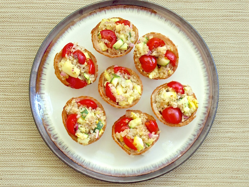 Quinoa Vegetable Turkey Cups | TastingPage.com