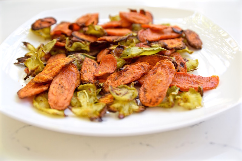 Broccoli and Carrot chips