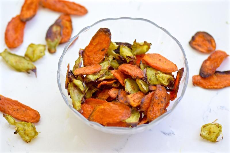 Broccoli and Carrot crisps