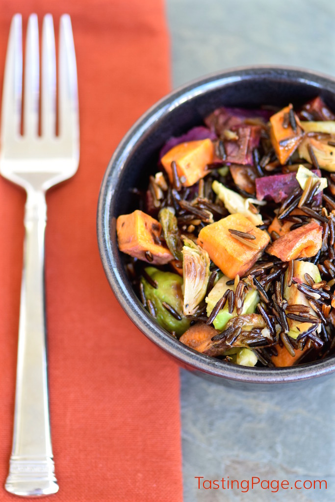 Fall Vegetable Wild Rice | TastingPage.com